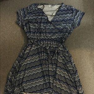 Avenue chevron wrap dress
